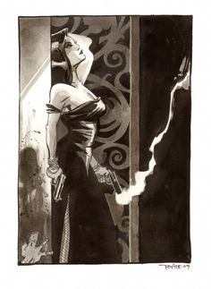 Femme Fatale by Tim Sale, in Jeff Singh's Tim Sale Comic Art Gallery Room Comic Book Artists, Comic Books Art, Comic Art, Pulp Fiction Art, Pulp Art, Comic Book Villains, Jordi Bernet, The Villain, Female Art