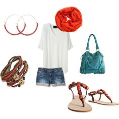 Coral. I love this outfit.