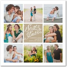 Moments in Love - Signature White Photo Save the Date Cards in White or Black | Magnolia Press