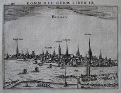 Bremen Panorama. Kupferstich von Bertius, ca 1616