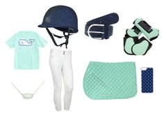 Mint and navy preppy ride by thepreppypony on Polyvore featuring Kendra Scott, CellPowerCases, Vineyard Vines, preppy, horses, equestrian and Prep