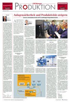 Unser Fachartikel in der aktuellen Ausgabe der CHEMManager: Anlagensicherheit und Produktivität steigern