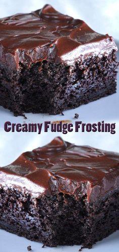 Creamy Fudge Frosting Fudge Icing Recipe, Homemade Chocolate Frosting, Brownie Frosting, Chocolate Frosting Recipes, Homemade Fudge, Homemade Cakes, Chocolate Desserts, Cupcake Recipes, Cupcake Cakes