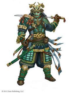 Dungeons & Dragons: Samurai, a Fighter archetype (inspirational) Kabuto Samurai, Ronin Samurai, Samurai Warrior, Character Concept, Character Art, Concept Art, Character Design, Kendo, Dungeons And Dragons