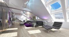 3D Innen-Design, Luxus-Penthaus in 3D, 3D Visualisierungen Wien, Renderings…