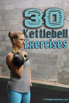 The Kettlebell Encyclopedia: 30 Of The Best Kettlebell Exercises {Gifs} #kettlebellexercise