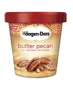 Best Premium Butter Pecan Häagen-Dazs Butter Pecan  Grandma's favorite flavor gets a sophisticated rethink: Roasted pecans add a toasty-sweet note to a not-too-buttery base. To buy: $4.80 for 14 ounces, at supermarkets.