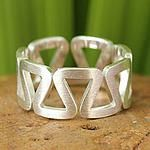 Sterling silver band ring, New Energy