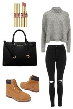 Untitled #1 by robinsonellie on Polyvore featuring polyvore, fashion, style, Designers Remix, Topshop, Timberland, Michael Kors, Yves Saint Laurent, women's clothing, women's fashion, women, female, woman, misses and juniors