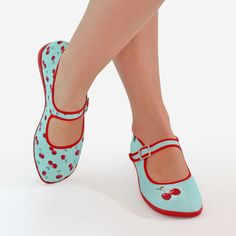 Hot Chocolate Design Chocolaticas Cherry Women Mary Jane Flat : AmazonSmile