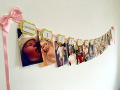Pink and gold. First birthday banner. Pink and gold Glitter First Birthday, First Birthday Banners, Baby 1st Birthday, First Birthday Parties, Girl Parties, Birthday Ideas, Birthday Garland, Birthday Decorations, Table Decorations