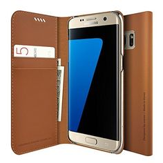 Galaxy S7 Edge Wallet Case, Araree® [Slim Diary] Premium Genuine Leather Wallet Case Cow Leather Cover with Credit Card ID Holder for Samsung (2016) (BROWN) by KDLAB, http://www.amazon.co.uk/dp/B01BWJZJNU/ref=cm_sw_r_pi_dp_WCF6wb1629ZA9