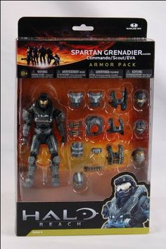 Halo Reach McFarlane Toys Deluxe Action Figure Boxed Set STEEL Spartan Grenadier Custom Armor Pack Commando, Scout, EVA by McFarlane Toys, http://www.amazon.com/dp/B004MO2J54/ref=cm_sw_r_pi_dp_kd2Pqb07R3773