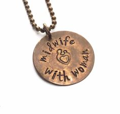 Midwife Necklace. Natural Birth.Home Birth.Midwife Gift. Midwife Jewelry