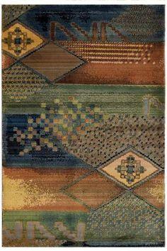 Arts & Crafts color palette meets modern-ish rug design