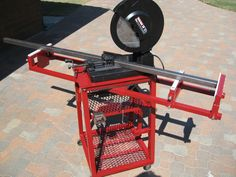 Chop Saw Mobile Workstation - WeldingWeb™ - Welding forum for pros and enthusiasts Welding Bench, Welding Cart, Welding Shop, Welding Jobs, Diy Welding, Metal Welding, Metal Projects, Welding Projects, Homemade Tools