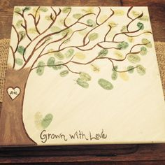 Baby Shower 'thumbprint leaf' tree