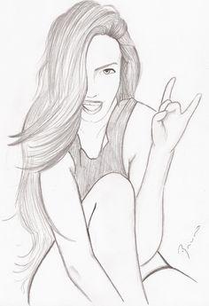 To draw cute rocker