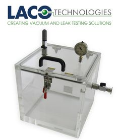 Clear Cube Vacuum Chamber with port on side, gauge on lid. Custom clamp option. #vacuumchamber