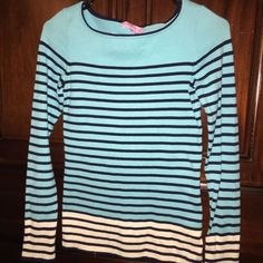 Lilly Pulitzer Shorely Blue Striped sweater Barely worn Lilly sweater Lilly Pulitzer Sweaters Crew & Scoop Necks