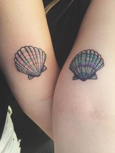 1337tattoos: My best friend @rosepetalbaby and I got seashell twin tattoos. We both know we will have each other forever and our relationship is different than others so we decided to seal the deal in ink. Both of us are studying to be marine biologist and we're both mermaids so it suites us. submitted by http://apropheticdream.tumblr.com