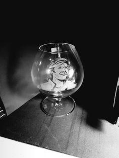 Vasco incisione su vetro