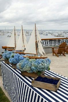 Sailboat deck decor