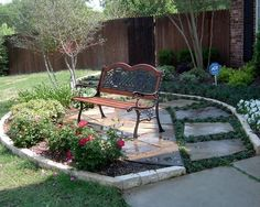 Bench In Front Yard My New Front Yard Ideas Pinterest Front Yards Stones And Yards