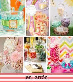 Mesas de dulces: cómo exponer las golosinas - en blog.fiestafacil.com / Sweet tables: how to present candy - from blog.fiestafacil.com