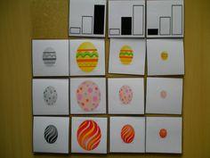 Matrix: grootte & versiering van paaseieren Meer ideetjes rond thema Pasen: http://www.pinterest.com/liestr/