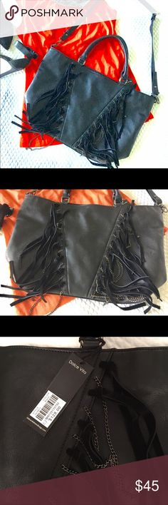 NWT Dolce Vita Purse Chic Dolce Vita new purse with leather and metal fringe. Has cross body detachable strap. Retails for $128 Dolce Vita Bags Shoulder Bags
