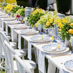 Wedding Set Up, French Wedding, Yellow Wedding, Wedding Table, Greek Decor, Lemon Party, Sweet 16 Parties, Baby Shower, Bridal Shower