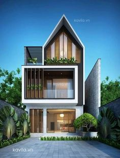 📌 34 Samples Of Modern Houses Most Popular Exterior Design Exterior Renovation Ideas That Are Right For Your Home 29 Design Exterior, Facade Design, Modern Exterior, Cafe Exterior, Stucco Exterior, Cottage Exterior, Modern Architecture House, Facade Architecture, Modern House Facades