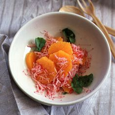 Fragrant orange flower water perfumes this delicate salad.