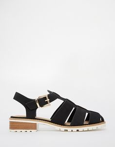 River Island Chunky Geek Flat Gladiator Shoes