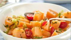 Cantaloupe and Tomato Salad