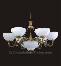 Alabaster Chandelier #232 6+3 Light