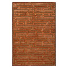Radiating Warmth. Combining a luxurious ground chenille base with a raised viscose pattern to maximize depth and texture, the Napa area rug in rust and brown is truly special. Featuring a unique geometric maze pattern in warm rust and brown colors, this rug brings a classic, high-end designer look to any setting.   A web-exclusive product. Item is not displayed in store, but may be ordered there.
