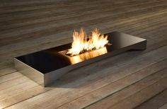 Fire table by Esa Vesmanen Bergner Home Decor Furniture, Garden Furniture, Furniture Design, Floor Graphics, Gas Fire Pit Table, Light My Fire, Home Decor Accessories, Scandinavian Design, Decoration
