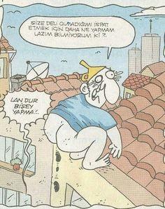 Hunililer yiğit özgür komik karikatür çatı