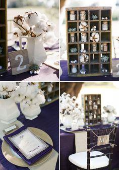 rustic vintage wedding shoot, makes use of cotton, adorable! Farm Wedding, Wedding Table, Diy Wedding, Rustic Wedding, Dream Wedding, Wedding Day, Snow Wedding, Wedding Reception, January Wedding