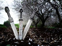 Khindjals or Qamas - Circassian daggers  Of course I can use a dagger! I am from from the Caucasus!  - Alexander Pushkin
