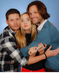 In honor of #clairenovak reruns happening  ~ @kathrynlnewton via Instagram ;) .... WOW <3 <3 #J2 || Jensen Ackles || Jared Padalecki #Kathryn Newton #Supernatural Convention