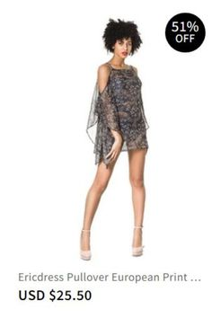 4f76a0df28 Ericdress Pullover European Print Beach Tops Item Code  13686332  Material Polyester christmas dresses