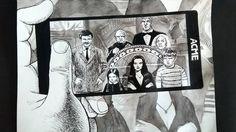 Luciano Sitnievski Júnior (@theonewiththedrawings):  Família Addams - Addams Family