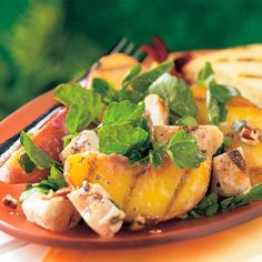 Grilled Georgia Peach and Chicken Salad, Amazing, Delicious, Healthy, Meals, Lunch, Dinner, Brunch, Party, Summer, Spring, Fall, Gluten-free,