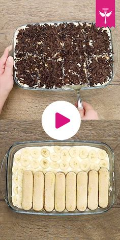Banana Tiramisu is a delicious variation of the Italian dessert classic. Banana and banana liqueur, a cream of mascarpone and sweet spoon biscuit provide addictive potential. Bananen-Tiramisu – so geht's Quick Dessert Recipes, Easy Cake Recipes, Easy Desserts, Delicious Desserts, Pudding Desserts, Tiramisu Dessert, Nutritious Snacks, Italian Desserts, Italian Tiramisu