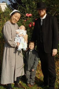 Not actually amish but Mennonite family. (interesting journey/link of their lives attached with this pic)