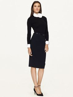 the by SMITH mott blouse would look pretty amazing with this dynamite wool skirt.
