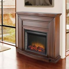 Pleasant Hearth - Durham 23 Inch Electric Fireplace with Remote – Mahogany Finish - 237-16-70 - Home Depot Canada